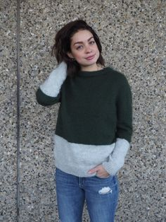 Kontrastsweater