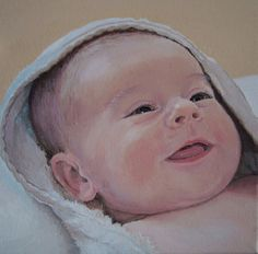 Oil portrait by artist Anna Bregman. Click the picture or the 'read it' button above to see the portrait gallery Colored Pencil Portrait, Color Pencil Art, Baby Painting, Painting & Drawing, Baby Girl Portraits, Baby Sketch, Abstract Painting Techniques, Cute Paintings, Oil Paintings