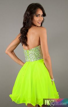 Homecoming dress- neon green | For my farewell | Pinterest | Neon ...
