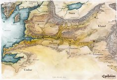 The Map of Harnendor and Near Harad