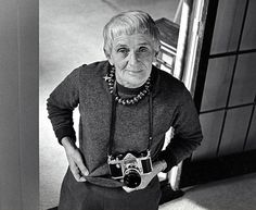 Dorothea Lange with her camera