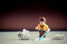 A LEGO Stormtrooper meets his demise