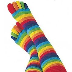 Toe socks! Who didn't have a pair of these? I did!