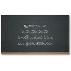 Simple Chalkboard Business Card