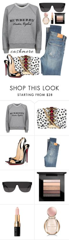 """#cashmere"" by itsybitsy62 ❤ liked on Polyvore featuring Burberry, GEDEBE, Christian Louboutin, Citizens of Humanity, RetroSuperFuture, MAC Cosmetics, Bobbi Brown Cosmetics, Bulgari and cashmere"