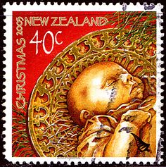 New Zealand.  CHRIST CHILD, TREE DECORATION.  Scott 1890 A501,  Issued 2003 Oct 1, Perf. 13 1/2, 40c. /ldb.