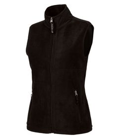 Charles River Apparel 5603 Women's Ridgeline Fleece Vest Black Full View