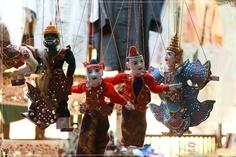 Myanmar Puppets  for more ; www.travelsinmyanmar.com