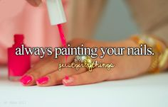 I honestly paint my nails almost everyday. It's a very addictive habit ;)