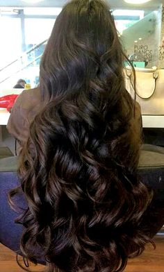 Very nice..long, thick and curled..#hair goals♡
