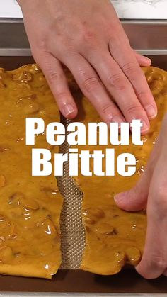 Brittle This classic peanut brittle is a fantastic edible gift idea!This classic peanut brittle is a fantastic edible gift idea! Brittle Recipes, Fudge Recipes, Cookie Recipes, Dessert Recipes, See's Candy Peanut Brittle Recipe, Pecan Brittle Recipe Easy, Homemade Peanut Brittle, Microwave Peanut Brittle, Peanut Candy
