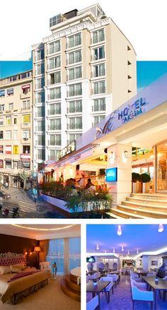 Istanbul Beyoğlu'nda bulunan turistler için seçilebilecek en güzel taksim otelleri arasında yer alan CVK Hotel