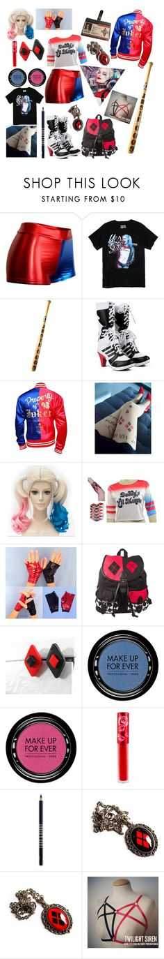 """""""Harley Quinn"""" by mysticalwiccan ❤ liked on Polyvore featuring MAKE UP FOR EVER, Lime Crime and Lord & Berry"""