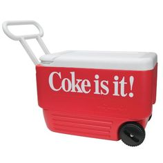 Igloo Wheelie Cool Coke Is It 38 Quart Cooler Cooler With Wheels, Coke, Coca Cola, Cool Stuff, Tableware, Coolers, Yards, Appreciation, Create