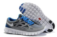 Buy Nike Free Run + 2 Grey Blue with best discount.All Nike Free Run Womens shoes save up. Nike Free Run 2, Free Running Shoes, Nike Free Shoes, Nike Shoes, Mens Running, Shoes Uk, Oufits Casual, Casual Shoes, Casual Outfits