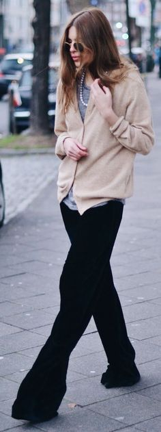 Black Extra Wide Trousers by MAJA WYH