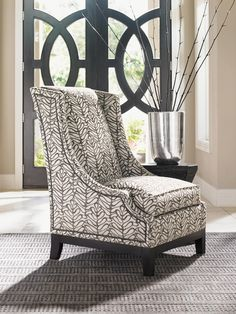 Carrera, Carrera Ava Wing Chair, Dining Room Table Sets, Bedroom Furniture, Curio Cabinets and Solid Wood Furniture - Model - Home Gallery Stores Furniture Upscale Furniture, Grey Furniture, High Quality Furniture, Home Decor Furniture, Contemporary Furniture, Luxury Furniture, Living Room Furniture, Furniture Design, Furniture Ideas