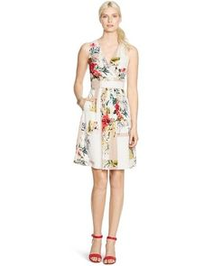 NWT! White House Black Market Women's Catalina Fit and Flare Floral Dress Sz 14 #WhiteHouseBlackMarket #BeachDressTeaDress #Formal