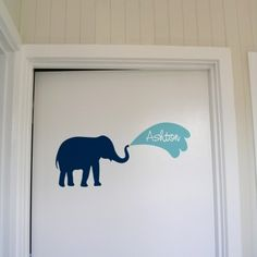 Door Name Tags - different animals. Name in water squirts