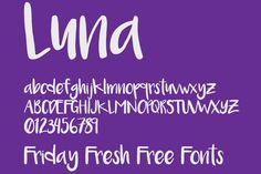 Friday Fresh Free Fonts - Luna, Intro Rust, Almost Japanese