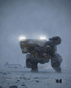 Concept Art / Mech in the snow