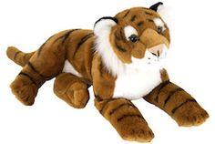 "Laying Tiger Stuffed Animal - 12"" Class"