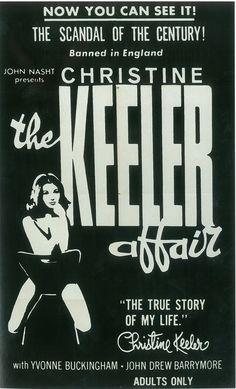 GBP - Christine Keeler Affair 01 B-Movie Reproduction Art Print John Drew Barrymore, 1969 Movie, To Catch A Thief, Funny Feeling, Bobby Darin, Sandra Dee, Honeymoon Hotels, Martial Arts Movies, Movie Black