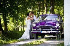 Our awesome purple wedding car #purplecar #weddingcar