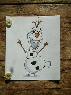 Olaf Hand Drawn Birthday Card by DreamsandPixiedust on Etsy