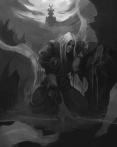 Arthas Menethil, Lich King, Death Knight, Character Drawing, Sounds Like, World Of Warcraft, Lion Sculpture, Feels, Universe