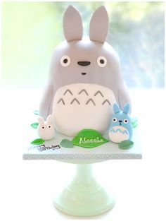 My Neighbor Totoro Mini Blue and White Totoro Cake | Chérie Kelly
