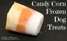 Candy Corn Frozen Dog Treats