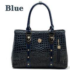 Women Leather Handbags Crocodile Designer Bags Handbag Women Famous Brand 2016 Bolsos Feminina Women Handbags Tote Women Bag 956