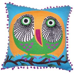 I pinned this Owl Pillow I from the Bohemian Rhapsody event at Joss and Main!