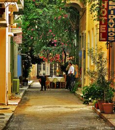 This photo from Argolis, Peloponnesus is titled 'Nafplio (daily life)'. Old City, Planet Earth, Pathways, Old Town, Places To Travel, Places Ive Been, Planets, Greece, Beautiful Places