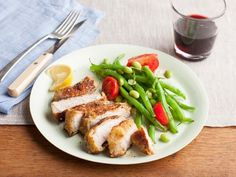 Get Parmesan-Crusted Pork Chops Recipe from Food Network