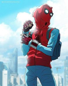 Read Birdboy🐤 from the story Spider on the run by Aleppost with reads. irondad, spiderman, Avengers headquarters: After Clint and Natasha ca. Marvel Comics, Marvel Fanart, Marvel Heroes, Marvel Avengers, Amazing Spiderman, All Spiderman, Spiderman Homecoming Comic, Peter Spiderman, Superhero Spiderman