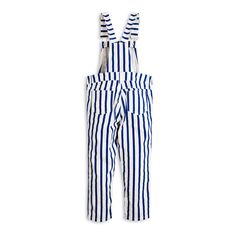 Mini Rodini Organic Cotton Striped Panda Dungarees-product
