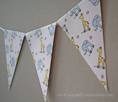 136 best diy baby shower invitations images on pinterest printable bunting banner flags part of our giraffe and elephant baby shower invitation kit filmwisefo