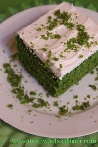 Spinach cake    This is a Turkish cake that I came across a few years ago.  You cannot tell its spinach, so dont tell your guest or kids your secret ingredient until after they ate it, they will be amazed!