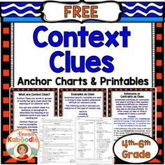 These Context Clues Printables offer print and go, common core aligned, context…