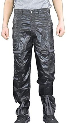 "Panno D'Or Men's Thin Shiny Nylon 80s Parachute Pants with Zippers 40 (40"" Relaxed Fit) Black Panno D'Or http://www.amazon.com/dp/B00MO71KLK/ref=cm_sw_r_pi_dp_L.45ub1647J51"