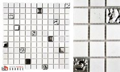 """Imagine your bathroom in this Polished Bianco Sivec Extra 1""""x1"""" Grey Metal and Glass Mosaic  #WhiteMarbleSource #marble #tile #mosaic #slab #natural #stone #interior #design #remodeling #deas #bathroom #kitchen #backsplash #ideal #architecture #home #decor #beautiful #countertop"""