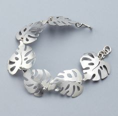 Kyla Vitek: Monstera sterling Bracelet...http://www.pinterest.com/rabbitsrabbits/saw-piercing/