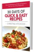 30 days of quick and easy recipes 3d cover