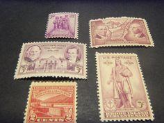 5 VINTAGE MINT STAMPS-1929-1938--FINE + GIN BONUS