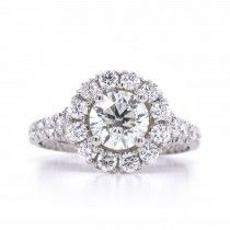 Save Round Halo Engagement Rings, Engagement Ring Settings, Halo Setting, Brilliant Diamond, Bridal Rings, Gold Bands, Ring Designs, Round Diamonds, Jewelry Stores