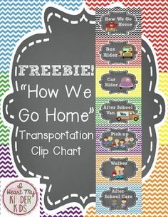 Add a ribbon to this transportation clip chart and hang. Add clothespins to the sides. The following signs are available:*Bus Rider*Car Rider*Van Rider*Pick-up*After School Care*After School Activity*WalkerGreat for your Chevron and Chalkboard themed classroom!*Feedback is greatly appreciated!** :)