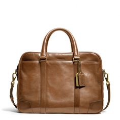 The Bleecker Commuter In Leather from Coach ~ possible work tote.