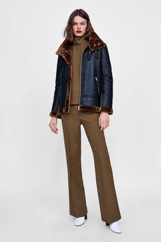 d2b4552fd829 Image 1 of CONTRASTING BIKER JACKET from Zara Zara Women